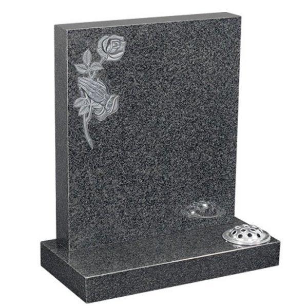 Regal Black Lawn Headstone