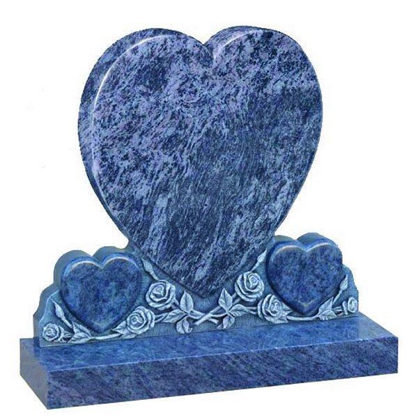 Bahama Blue Lawn Headstone