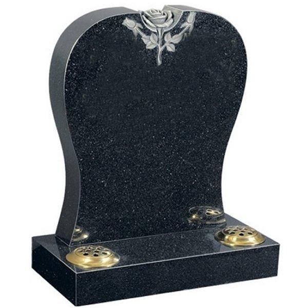 Regal Black (Dark) Lawn Headstone