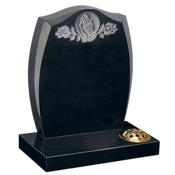 B G Black Lawn Headstone